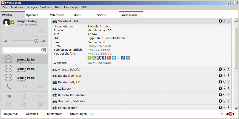 SmartSearch im Swyxi!